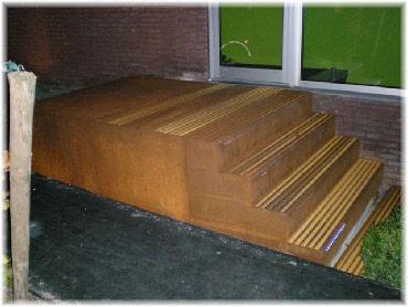 Foto andere projecten - Wand trap ...